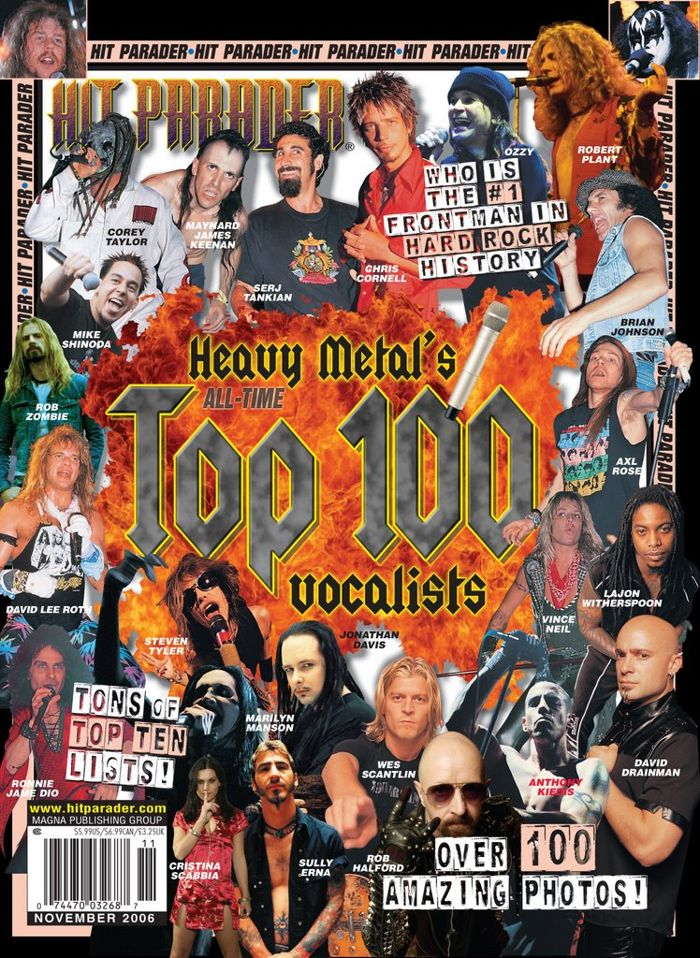Hit Parader's Top 100 Metal Vocalists Of All Time