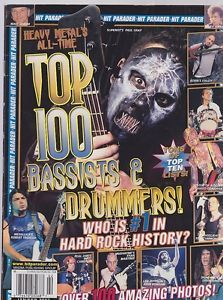 Hit Parader's Top 100 Bassists & Drummers
