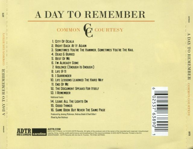 A day to remember,exclusive,victory records