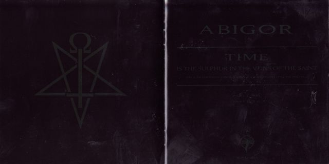 Abigor - Time Is the Sulphur in the Veins of the Saint... (2010)