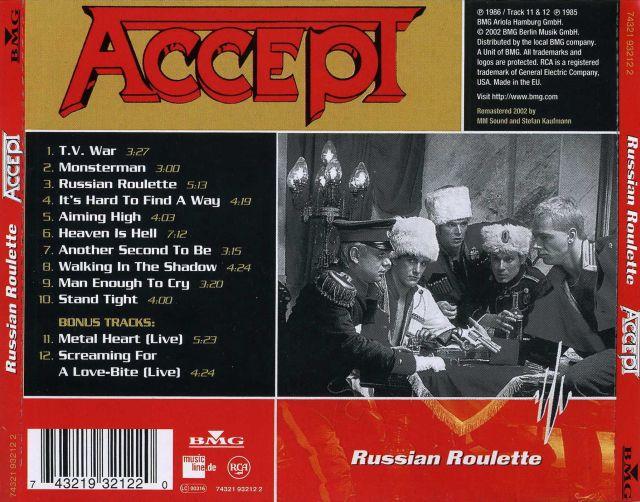 Accept - Russian Roulette (1986)