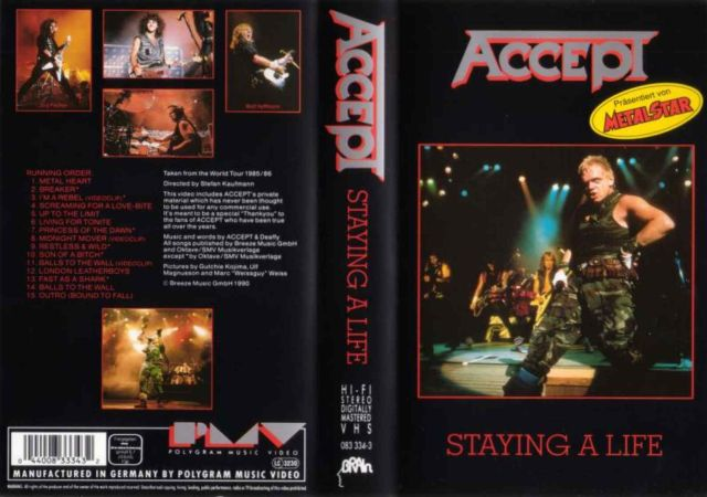 Accept - Staying a Life (1990)