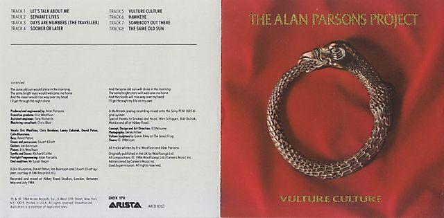 The Alan Parsons Project - Vulture Culture (1984)