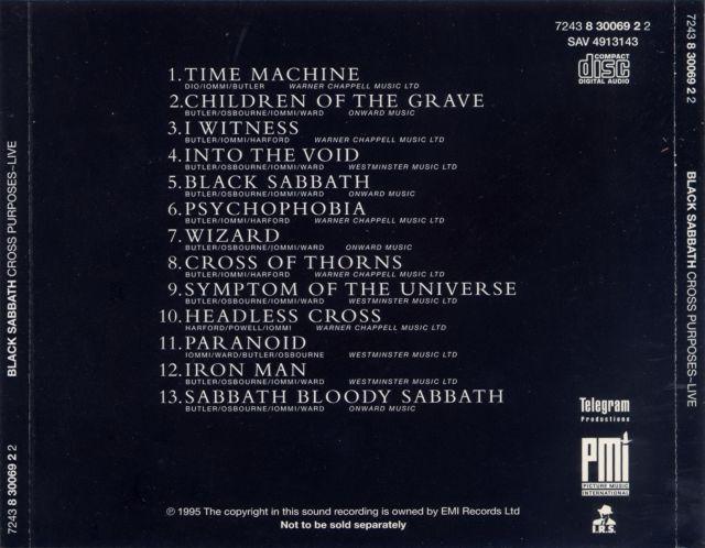 Black Sabbath - Cross Purposes Live (1995)