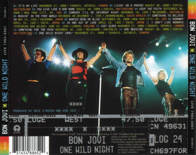 Bon Jovi - One Wild Night Live 1985–2001 (2001)