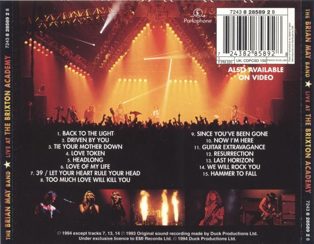 Brian May - Live at the Brixton Academy (1993)
