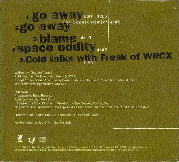 Cold - Oddity EP (1998)