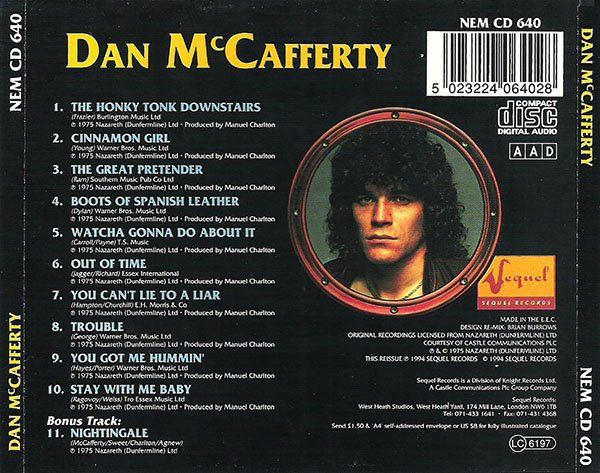 Dan McCafferty - Dan McCafferty (1975)
