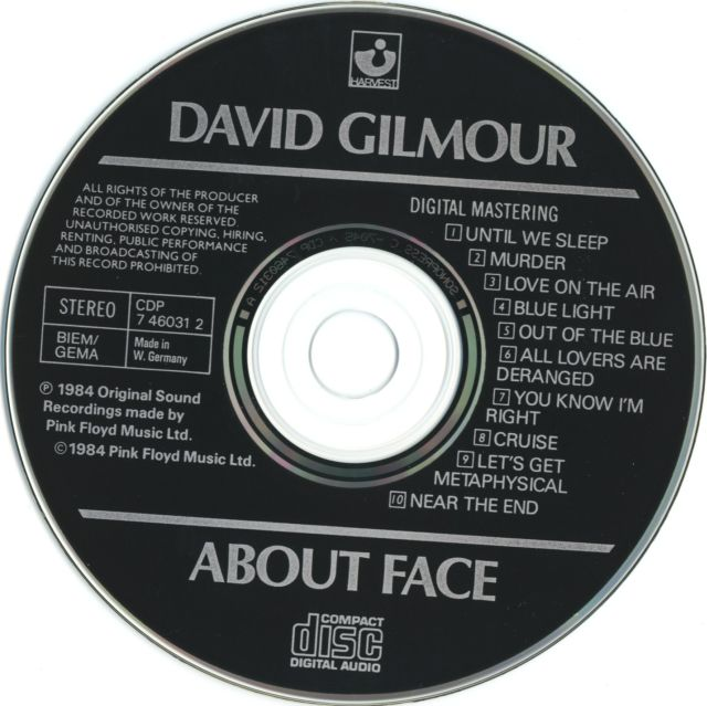 David Gilmour - About Face (1984)