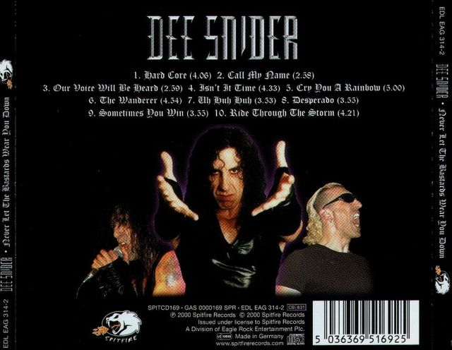Dee Snider - Never Let the Bastards Wear You Down (2000)