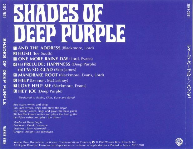 Deep Purple - Shades of Deep Purple (1968)