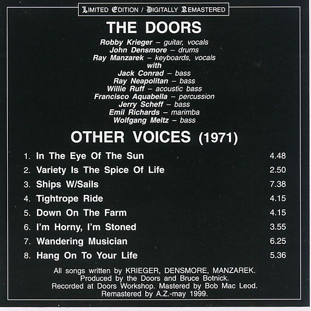 Other Voices (1971) - The Doors