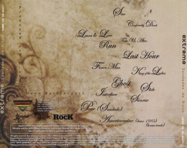 Extreme - Saudades de Rock (2008)