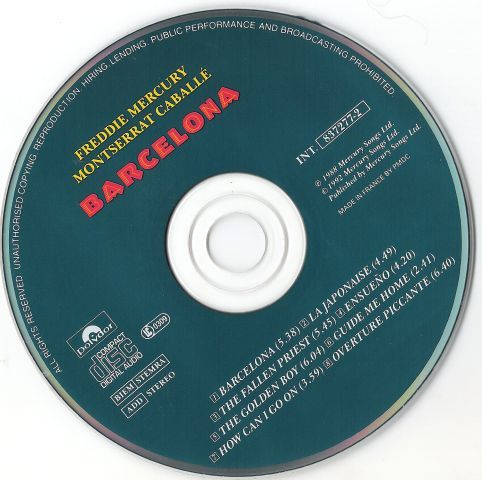 Freddie Mercury - Barcelona (1988)