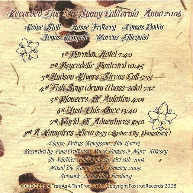 The Flower Kings - Carpe Diem - The Flower Kings Live in USA (2008)