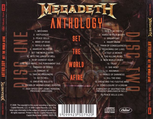 Megadeth - Anthology: Set the World Afire (2008)