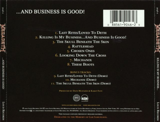 Megadeth - Killing Is My Business... and Business Is Good! (1985)