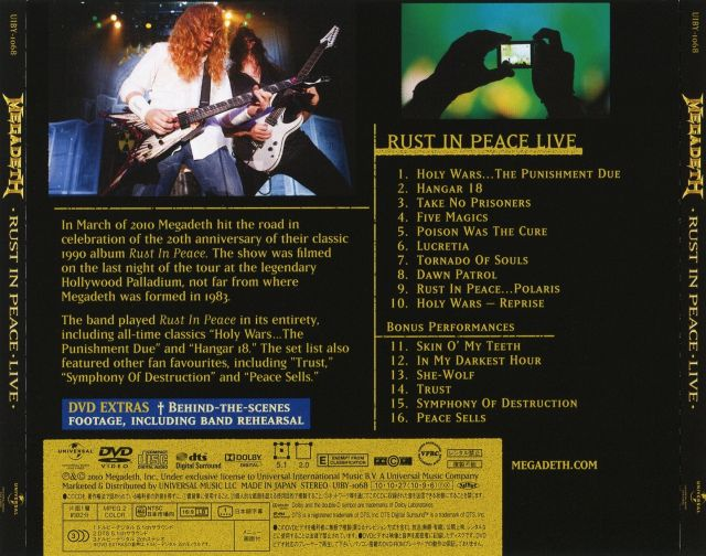 Megadeth - Rust in Peace Live (2010)