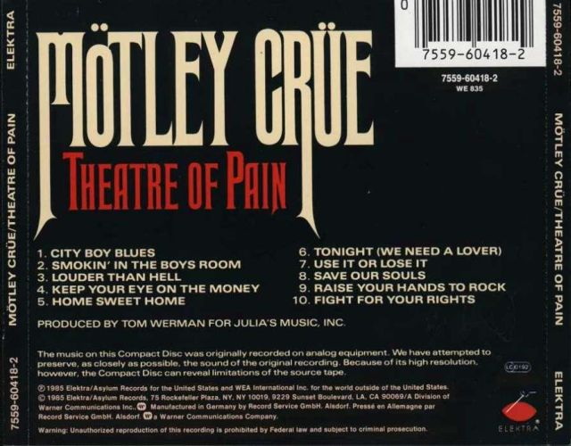 Mötley Crüe - Theatre of Pain (1985)