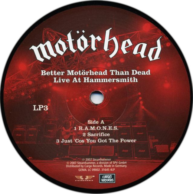 Motörhead - Better Motörhead than Dead: Live at Hammersmith (2007)