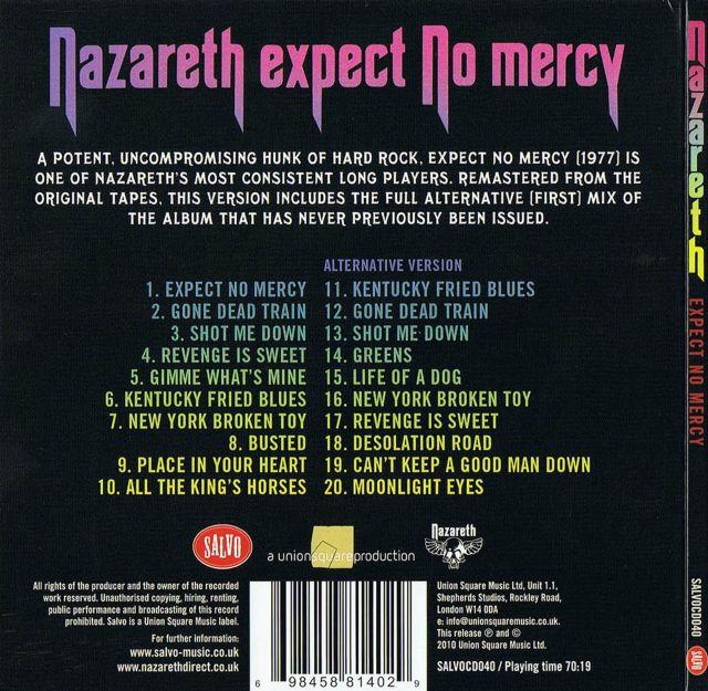 Cd album - nazareth - expect no mercy - eagle - germany