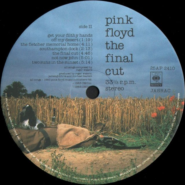 Pink floyd - the final cut at discogs