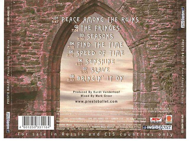 Presto Ballet - Peace Among the Ruins (2005)
