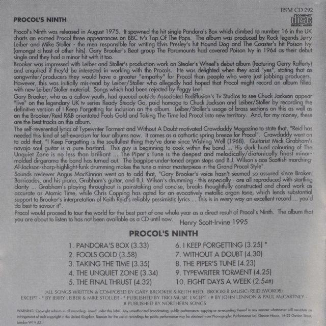 Procol Harum - Procol's Ninth (1975)