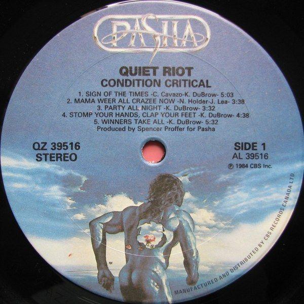 Quiet Riot - Condition Critical (1984)