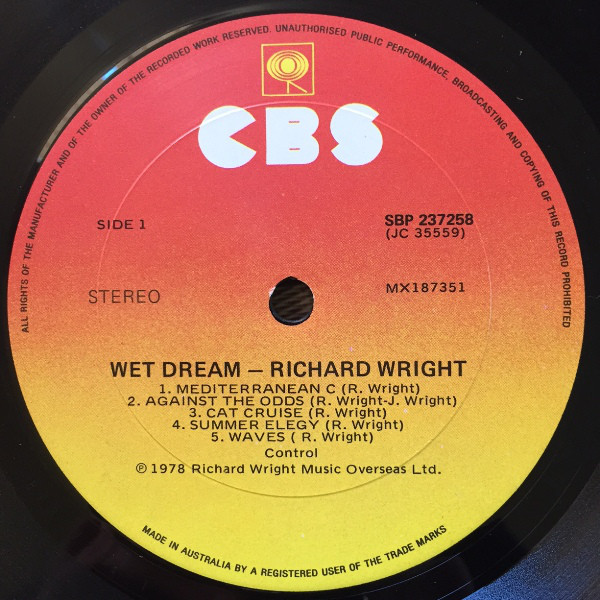 Richard Wright - Wet Dream (1978)