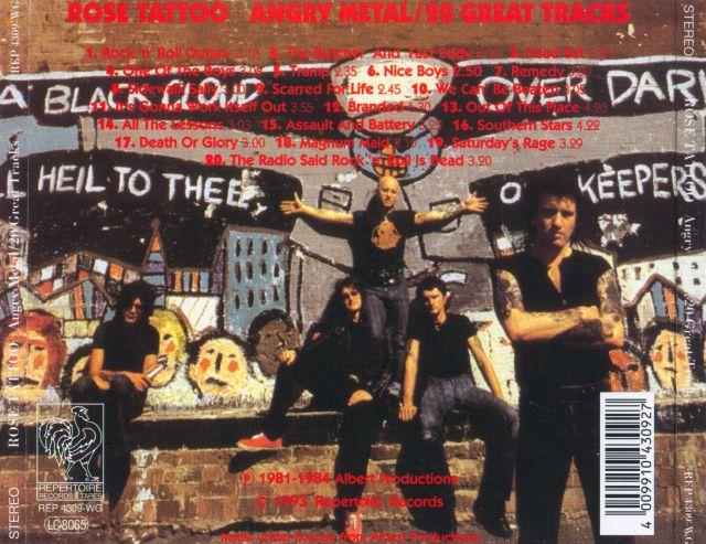 Rose Tattoo - Angry Metal (20 Great Tracks) (1993)