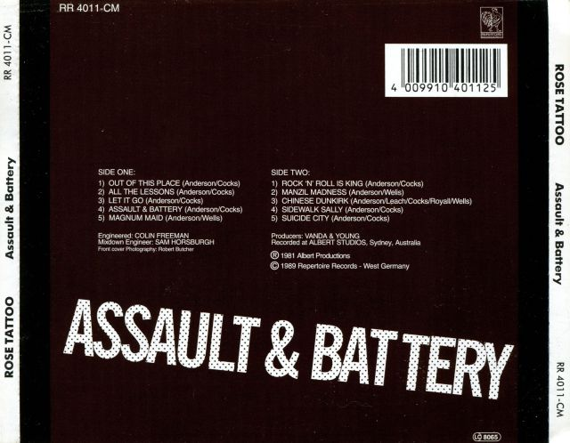 Rose Tattoo - Assault & Battery (1981)