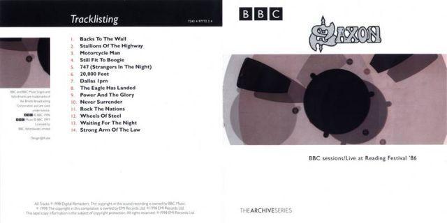 Saxon - BBC Sessions / Live at Reading Festival '86 (1998)