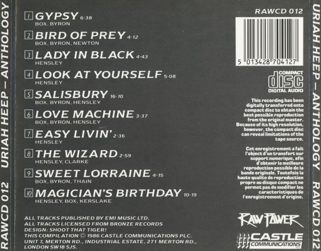 Uriah Heep - Anthology (1985)