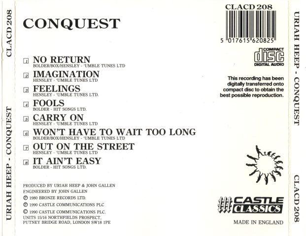 Uriah Heep - Conquest (1980)