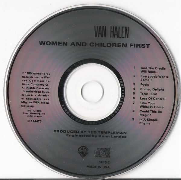 Van Halen - Women and Children First (1980)