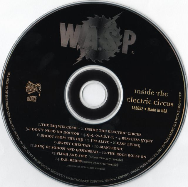 W.A.S.P. - Inside the Electric Circus (1986)