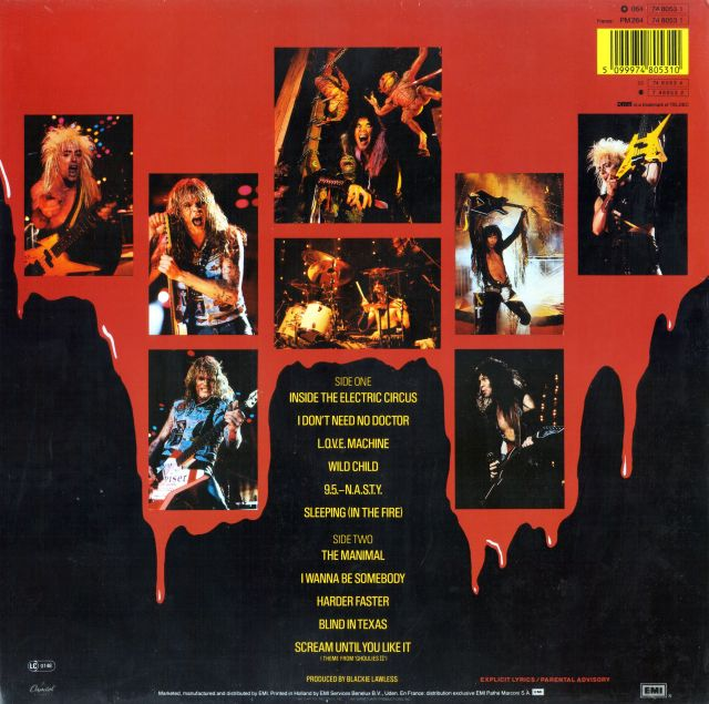 W.A.S.P. - Live...In the Raw (1987)