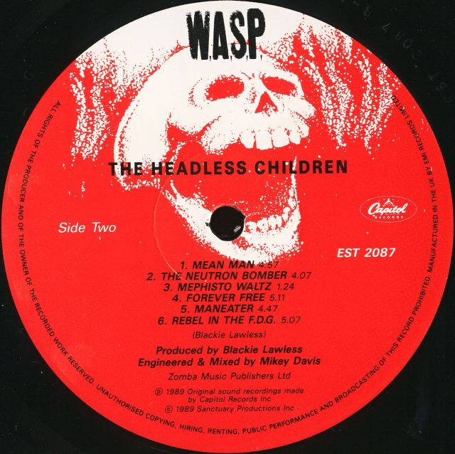 W.A.S.P. - The Headless Children (1989)