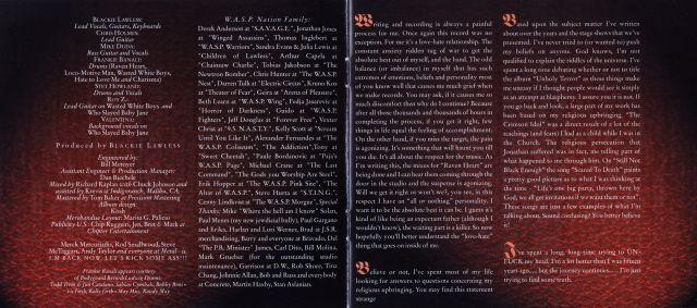 W.A.S.P. - Unholy Terror (2001)