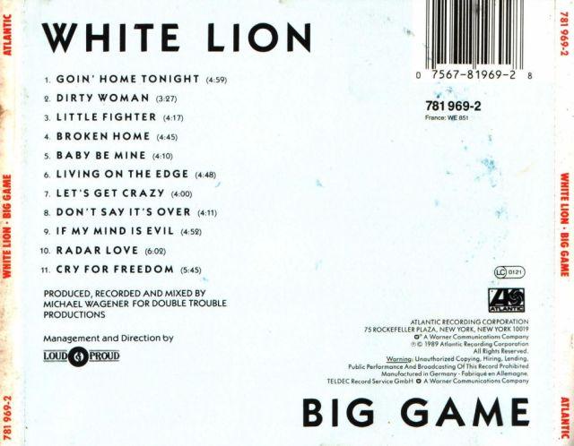 White Lion - Big Game (1989)